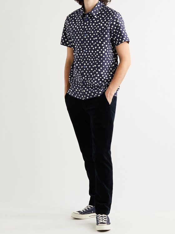 A.P.C. Léandre Polka-Dot Cotton Shirt