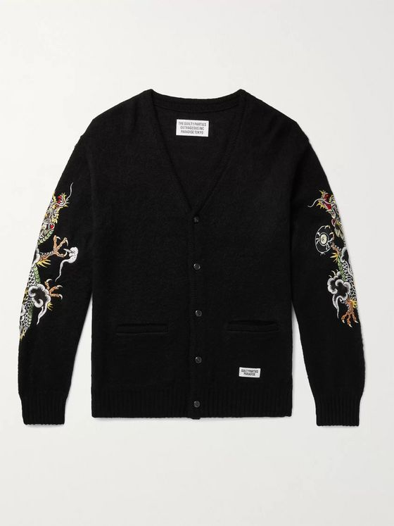 WACKO MARIA + Tim Lehi Embroidered Knitted Cardigan