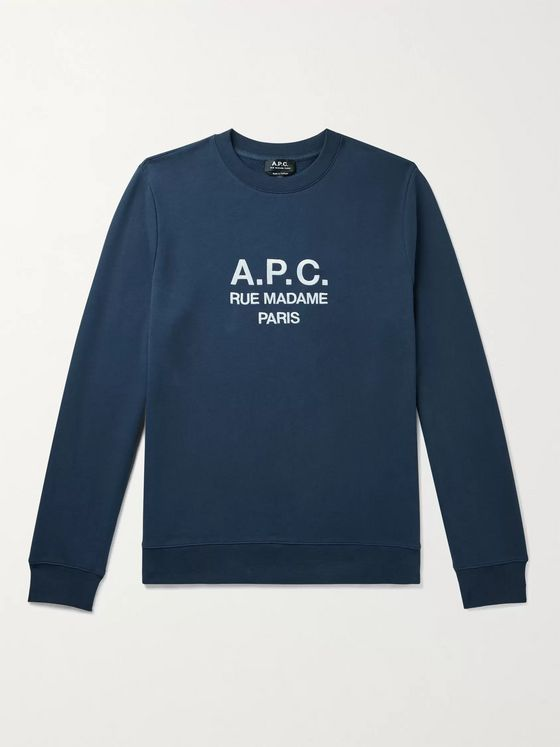 A.P.C. Rufus Logo-Embroidered Loopback Cotton-Jersey Sweatshirt