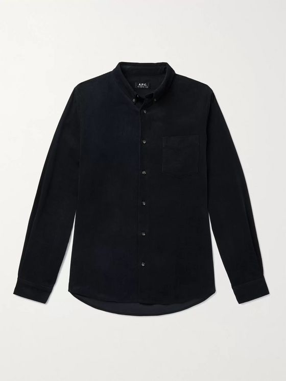 A.P.C. Serge Slim-Fit Button-Down Collar Cotton-Corduroy Shirt