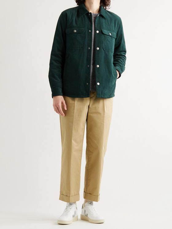 A.P.C. Kirk Pleated Cotton-Blend Gabardine Trousers