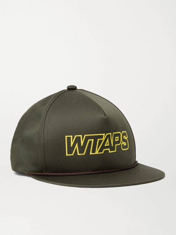 WTAPS Militia Logo-Embroidered Twill Baseball Cap