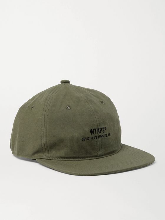 WTAPS Logo-Embroidered Cotton and Nylon-Blend Baseball Cap