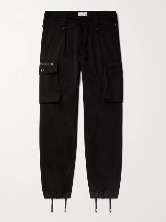 WTAPS Jungle Pleated Cotton-Twill Cargo Trousers