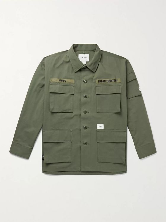 WTAPS Jungle Embroidered CORDURA and Cotton-Blend Ripstop Overshirt