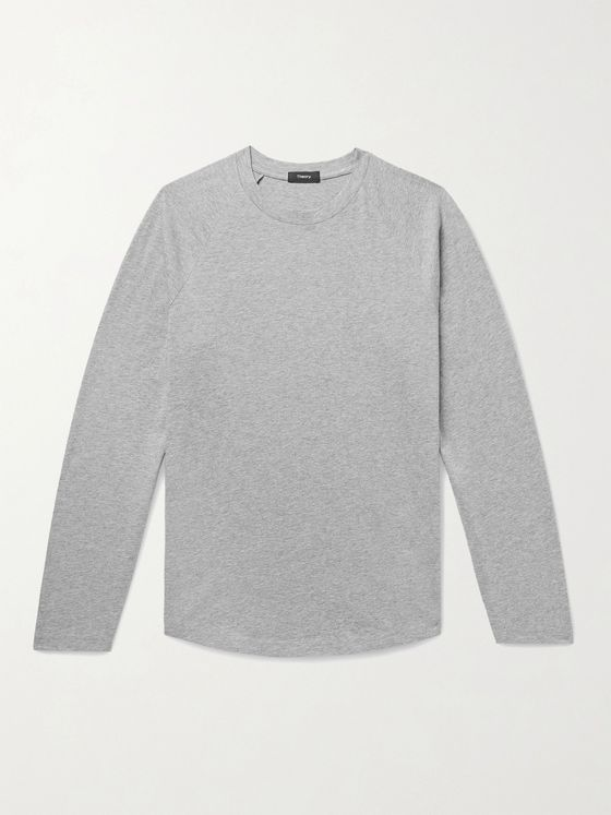 THEORY Mélange Cotton-Jersey T-Shirt