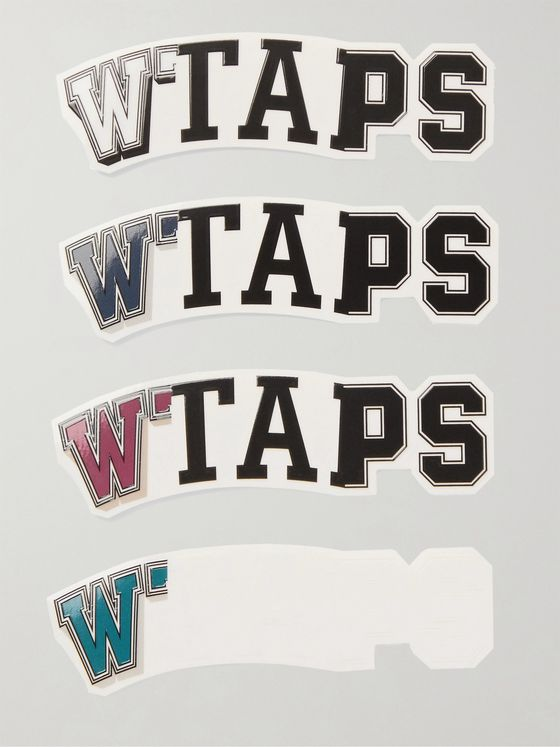 WTAPS Sticky 01 Set of Four Logo PVC Stickers