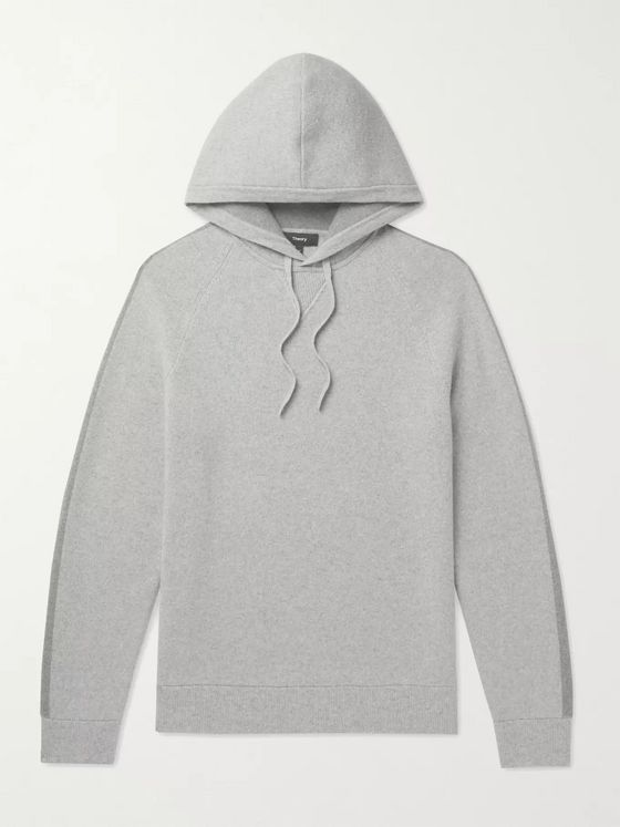 Theory Crimden Mélange Wool and Cashmere-Blend Hoodie