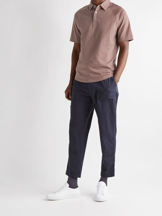 THEORY Slim-Fit Cotton-Jersey Polo Shirt
