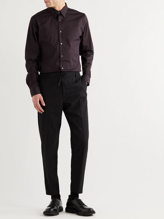 THEORY Sylvain Slim-Fit Cotton-Blend Poplin Shirt