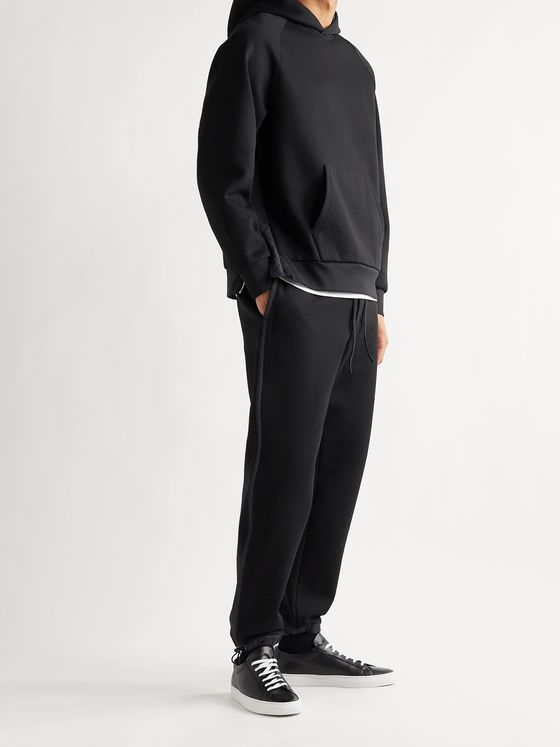 THEORY Reversible Cotton-Blend Jersey and Stretch-Shell Hoodie