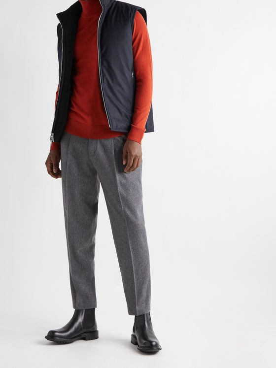 THEORY Reversible Wool-Blend Fleece and Shell Down Gilet