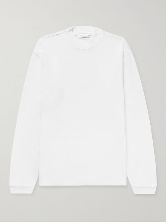 JOHN ELLIOTT 900 Mock-Neck Cotton-Jersey T-Shirt