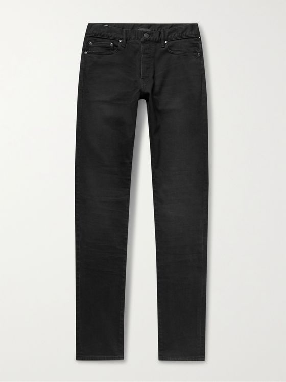 JOHN ELLIOTT The Cast 2 Slim-Fit Tapered Raw Stretch-Denim Jeans