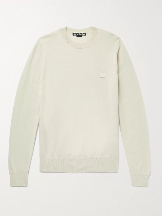 ACNE STUDIOS Kalon Logo-Appliquéd Wool Sweater