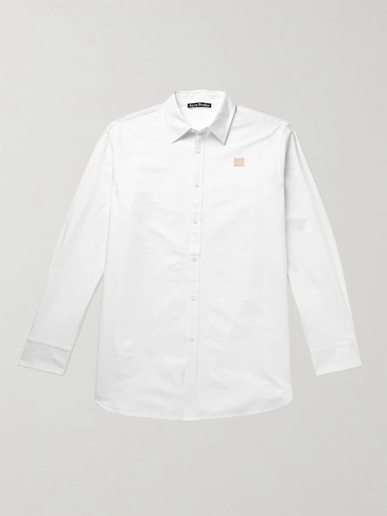 ACNE STUDIOS Saco Ox Oversized Logo-Appliquéd Cotton Oxford Shirt