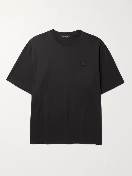 ACNE STUDIOS Exford Oversized Logo-Appliquéd Cotton-Jersey T-Shirt