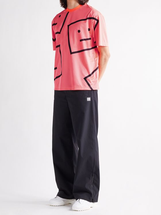 ACNE STUDIOS Exford Oversized Logo-Print Stretch-Jersey T-Shirt