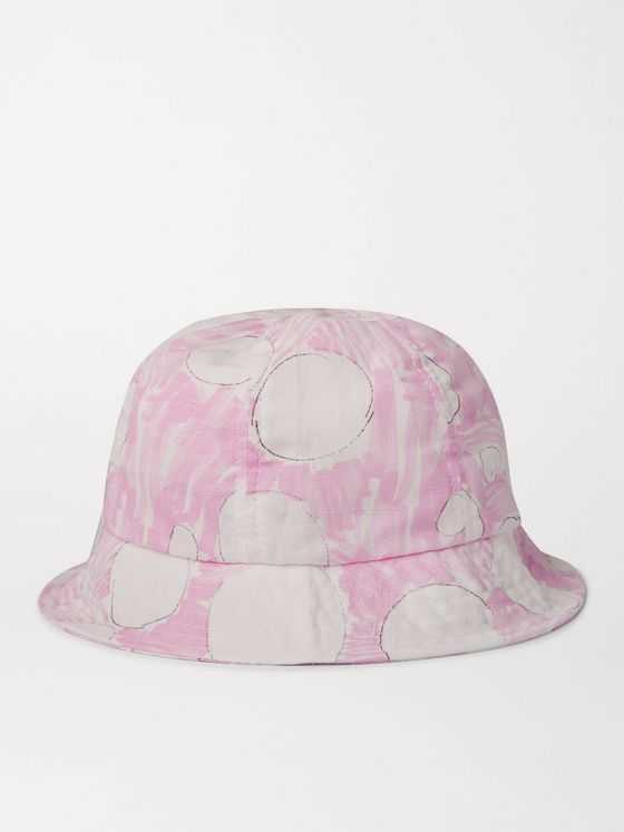 FOLK Printed Linen Bucket Hat