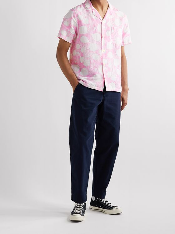 Folk + Daniel Johnston Camp-Collar Printed Linen Shirt