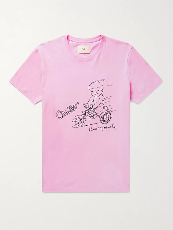 FOLK + Daniel Johnston Printed Cotton-Jersey T-Shirt