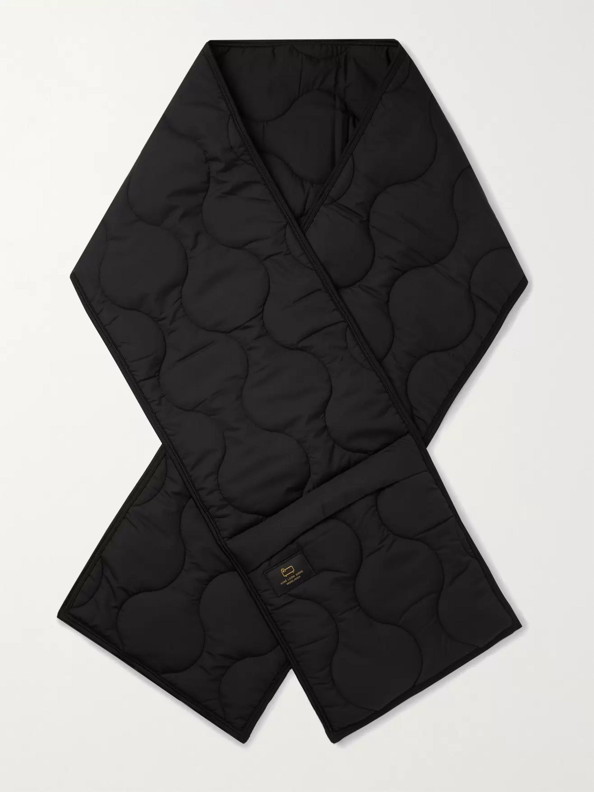 Aimé Leon Dore + Woolrich Logo-Appliquéd Quilted Padded Shell Scarf