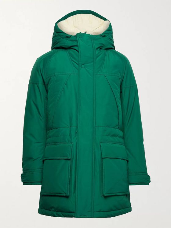 Aimé Leon Dore + Woolrich Ballistic Quilted Hooded Cotton-Blend Shell Down Jacket
