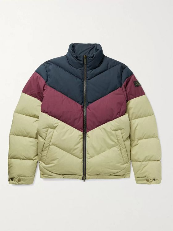 Aimé Leon Dore + Woolrich Quilted Colour-Block Cotton-Blend Ripstop Down Jacket