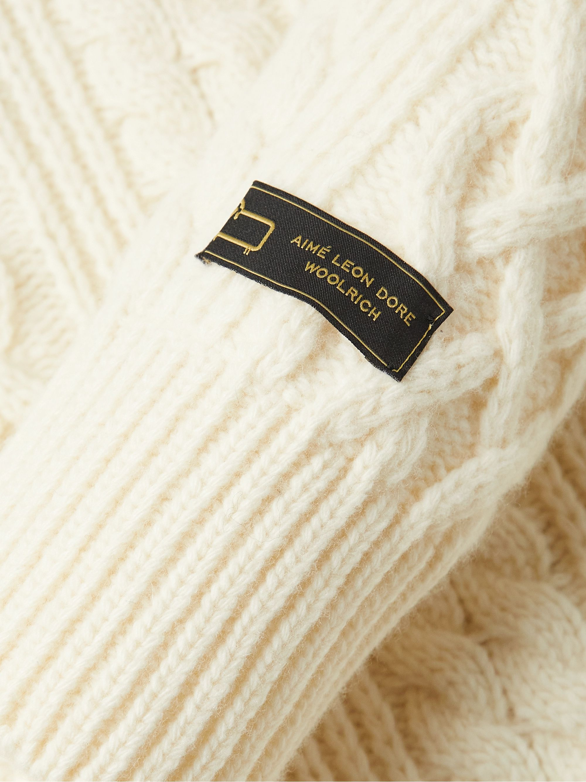 Aimé Leon Dore + Woolrich Cable-Knit Wool Sweater