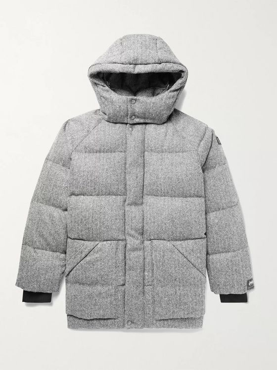 Aimé Leon Dore + Woolrich Herringbone Quilted Wool-Tweed Hooded Down Parka