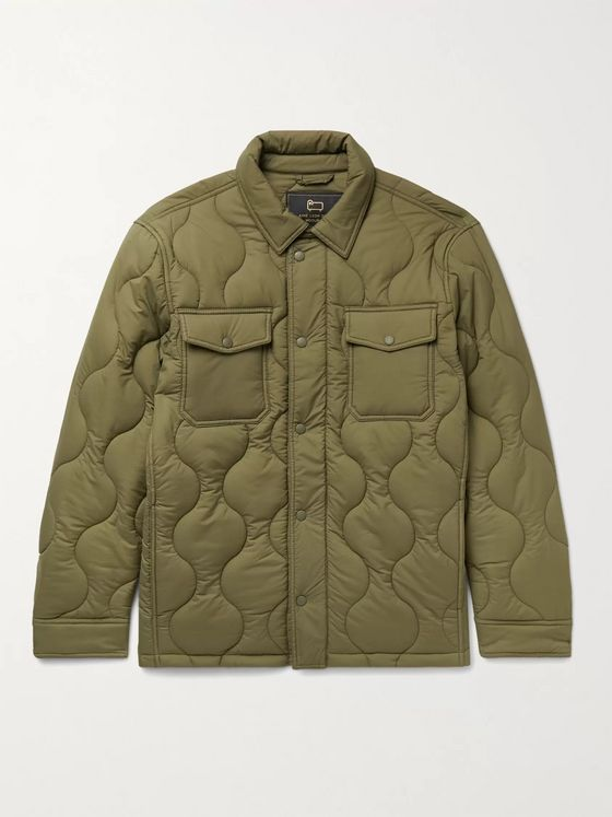 Aimé Leon Dore + Woolrich Quilted Padded Stretch-Ripstop Shirt Jacket