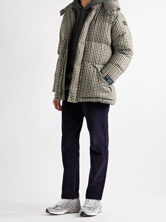 Aimé Leon Dore + Woolrich Checked Quilted Dream Tweed Hooded Down Parka
