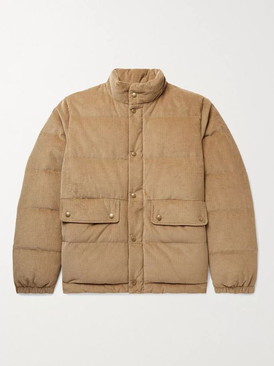 Aimé Leon Dore + Woolrich Quilted Cotton-Corduroy Padded Down Jacket