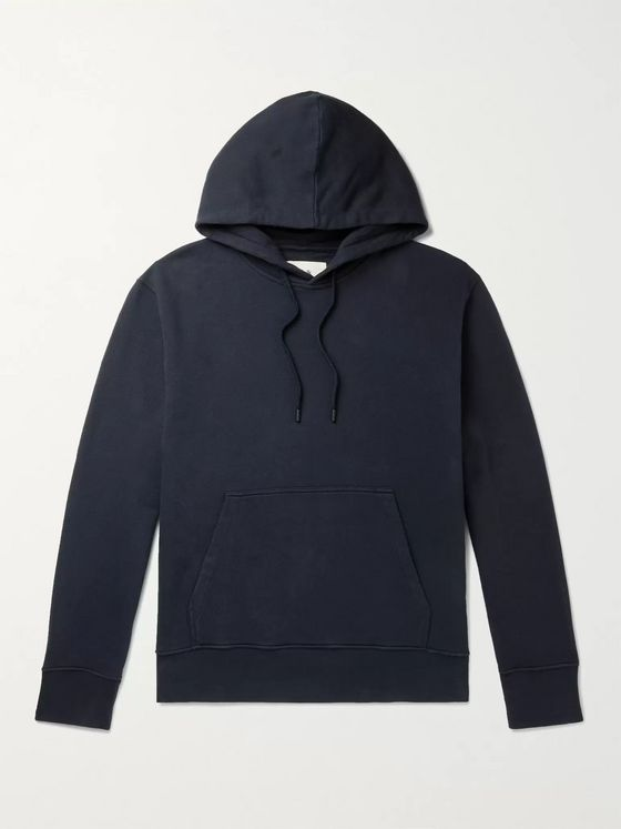 FOLK Garment-Dyed Loopback Cotton-Jersey Hoodie
