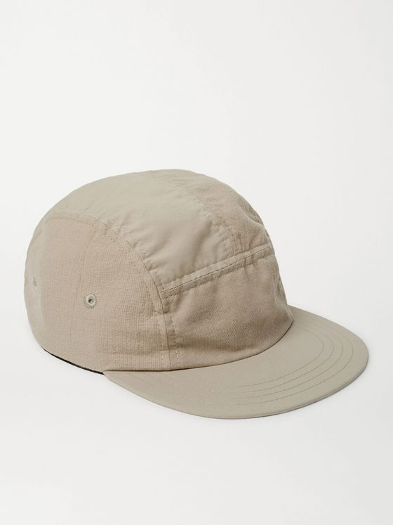 FOLK Puzzle Panelled Lyocell-Blend and Cotton Baseball Cap