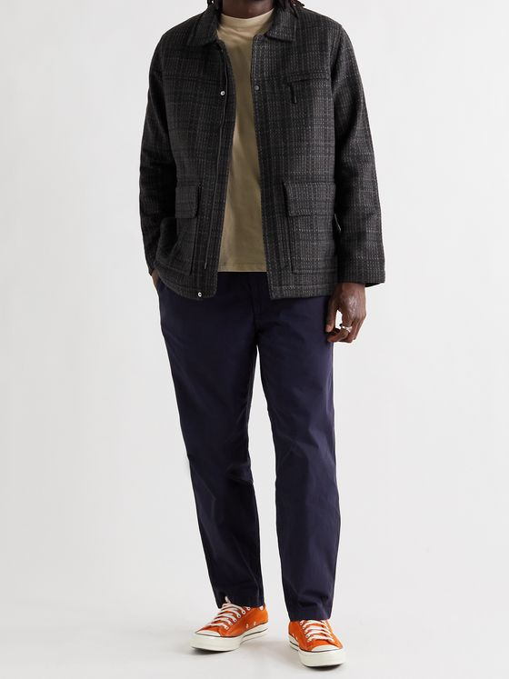 FOLK Alber Checked Wool-Blend Jacket