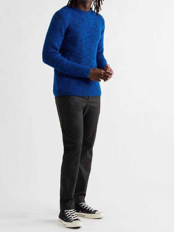 FOLK Ripple Mélange Wool-Blend Sweater