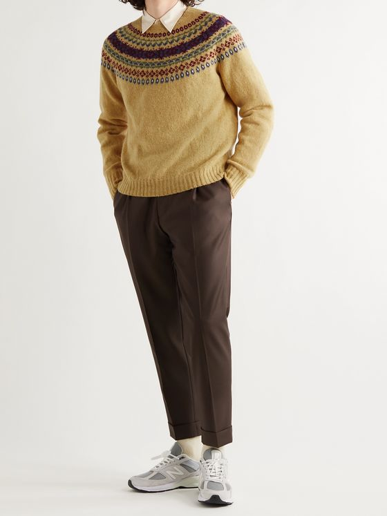 Aimé Leon Dore + Drake's Fair Isle Virgin Wool Sweater