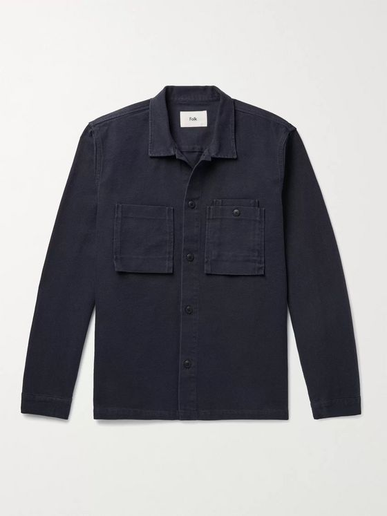 FOLK Cotton-Canvas Overshirt