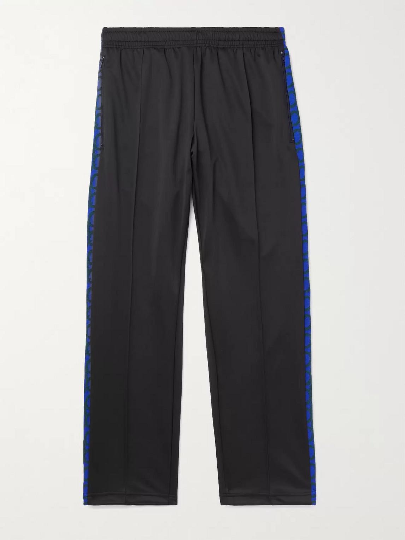 Aloye Striped Jersey Track Pants In Blue