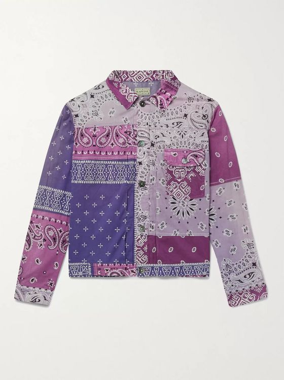 KAPITAL Patchwork Bandana-Print Cotton Jacket