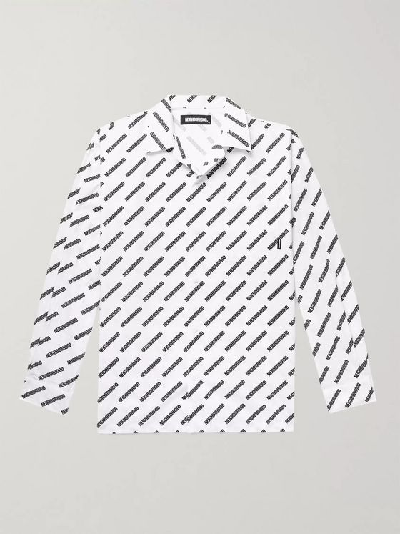 NEIGHBORHOOD Logo-Print Cotton-Poplin Shirt