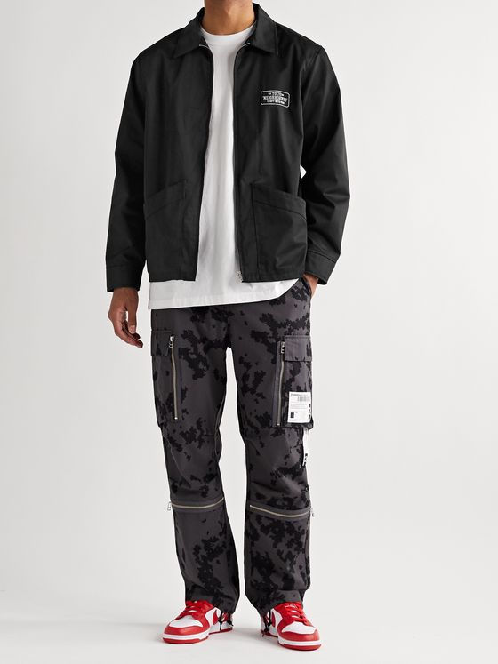 NEIGHBORHOOD Drizzler Logo-Print Twill Jacket