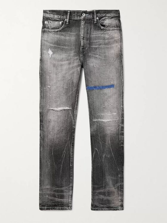 NEIGHBORHOOD Block Savage Distressed Denim Jeans