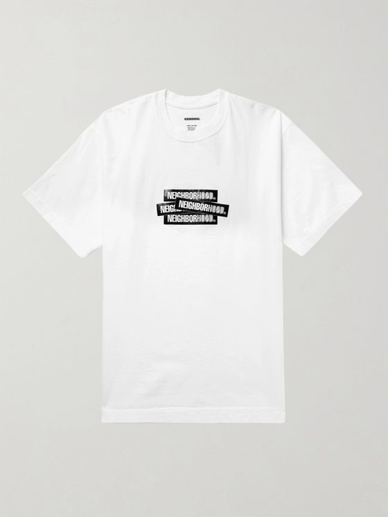 Neighborhood Decal Logo-Print Cotton-Jersey T-Shirt