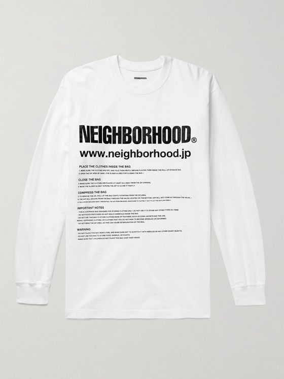 NEIGHBORHOOD ID Printed Cotton-Jersey T-Shirt