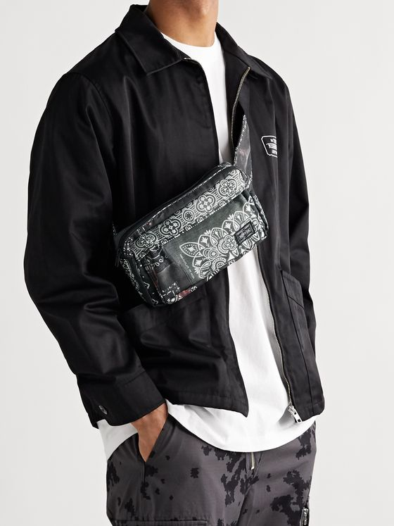 NEIGHBORHOOD + Porter-Yoshida & Co Logo-Appliquéd Bleached Printed Canvas Belt Bag