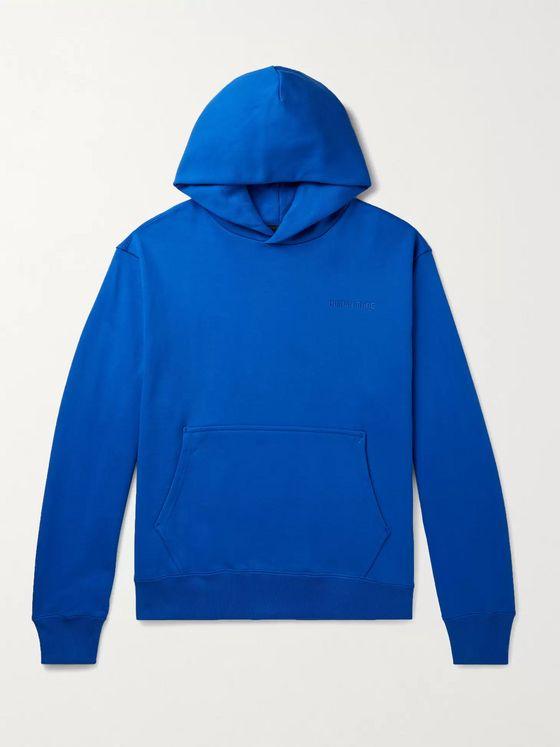 adidas Consortium + Pharrell Williams Basics Logo-Embroidered Loopback Cotton-Jersey Hoodie