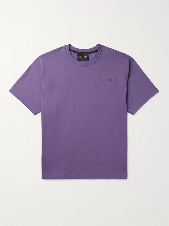 adidas Consortium + Pharrell Williams Basics Logo-Embroidered Cotton-Jersey T-Shirt
