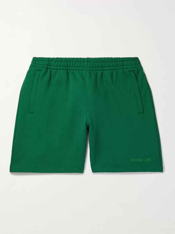 adidas Consortium + Pharrell Williams Embroidered French Cotton-Terry Shorts